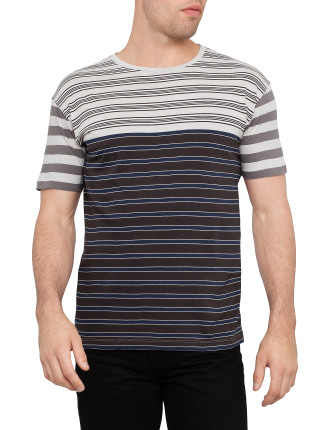 Short Sleeve Bailey Stripe Tee