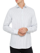 Long Sleeve James Oxford Stripe Shirt $199.00