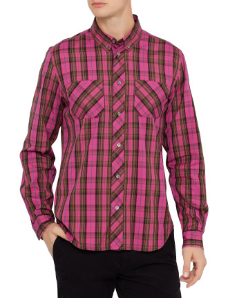 Long Sleeve Fargo Oxford Plaid Shirt