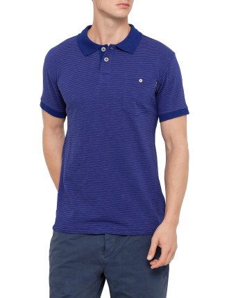 Short Sleeve Stripe Pocket Polo