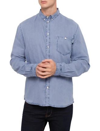 Long Sleeve Linen With Pocket Shirt