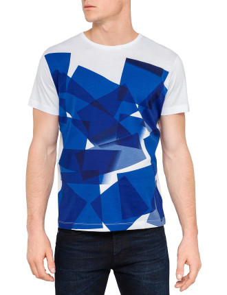 Short Sleeve Abstract Print Tee