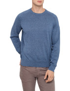 Crew Neck Perforated Side & Sleeve Detail Knit $189.00