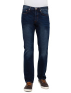 Standard Fit Mid Wash Navy Denim Jean $199.00