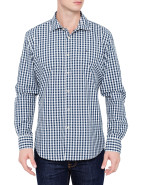 Long Sleeve Ward Pattern Poplin Shirt $169.00