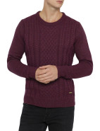Viggo Crew Neck Braid Mix Sweater $249.00
