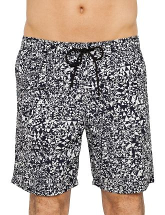 Abstract Triangle Long Classic Swim Short