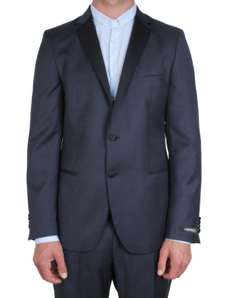 Contrast Lapel & Tux Trouser Dinner Suit