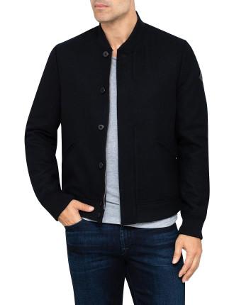 Zip Thru & Button Bomber Jacket