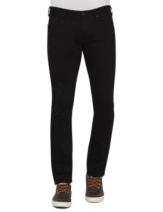 Tappered Black Stretch Jean