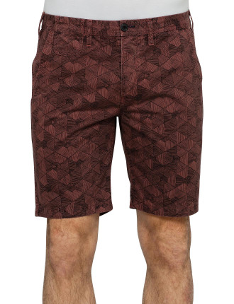 Allover Geo Print Short