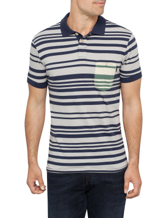 Short Sleeve Jersey Contrast Pocket Polo