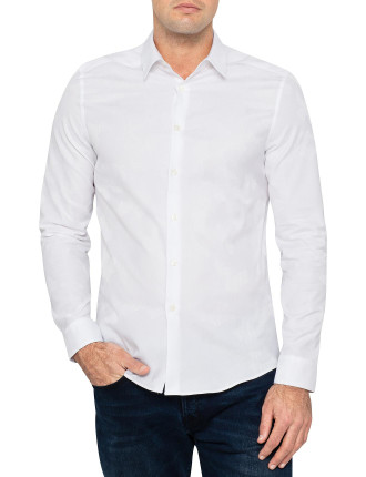 Long Sleeve Camo Jacquard Shirt