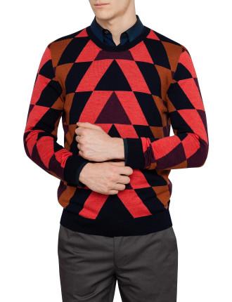 Crew Neck Pyramid Sweater