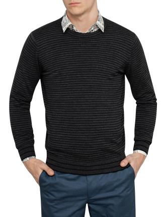 Crew Neck Stripe Sweater