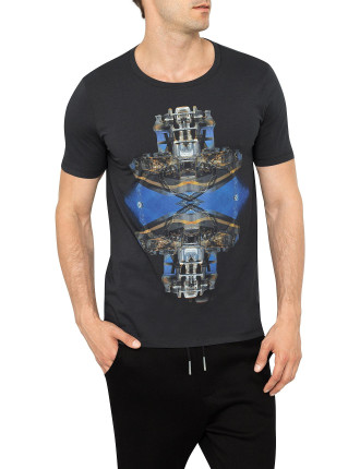 S/S Dotor Cn Mirror Image Graphic Tee