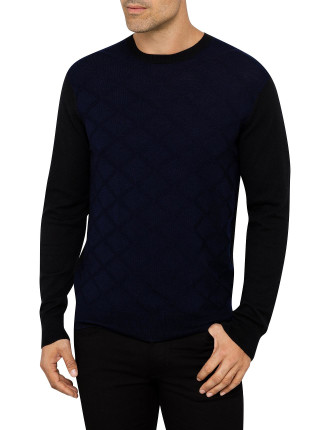 Blk And Navy Knit