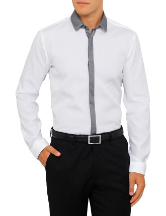 Shirt With Grey Placket