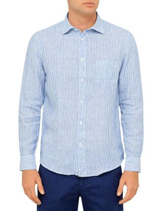 Paul Blue Stripe Linen Shirt