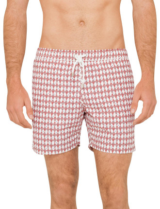 Red And Blue Dots Swim Short