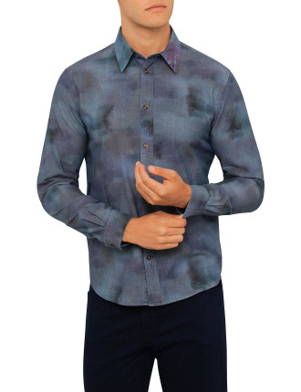 Shadow Print Shirt Tailored