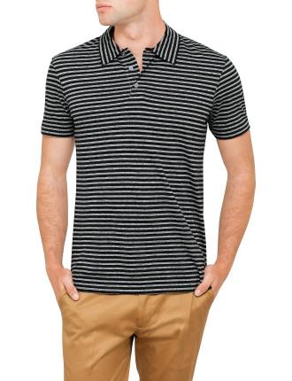 Slim Fit Stripe Polo