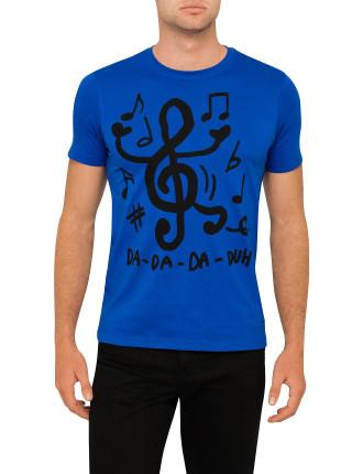 Music Print Tee