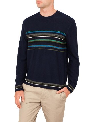 Stripe Panel Knitwear