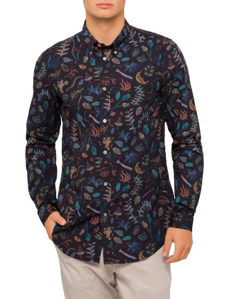 PS by PAUL SMITH Tailored Fit Under The Sea Print