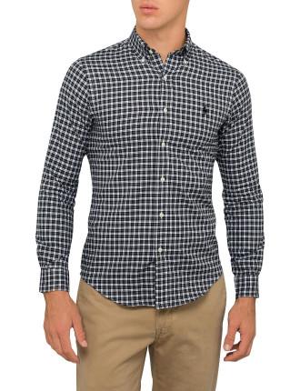 Slim-Fit Plaid Twill Shirt