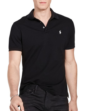 Custom-Fit Stretch Mesh Polo