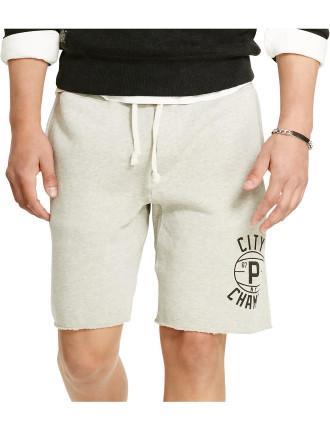 Cotton-Blend Fleece Short