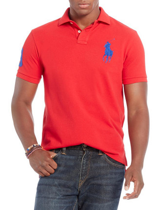 Short Sleeve Custom Fit Mesh Big Pony Polo