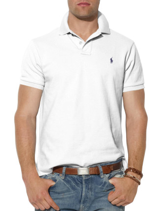 Short Sleeve Custom Fit Mesh Polo