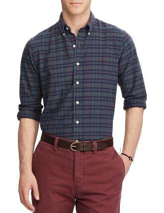 Slim Fit Cotton Madras Shirt