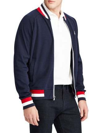 Knit Cotton Bomber Jacket