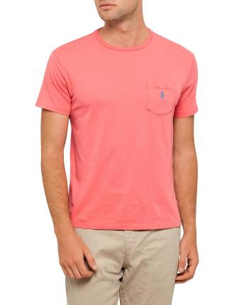 Crew Neck Custom Fit Pocket Tee Shirt