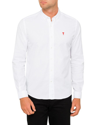 CHEST EMBROIDERED BUTTON DOWN SHIRT