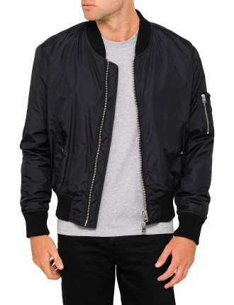 ZIPPED TEDDY BOMBER JACKET