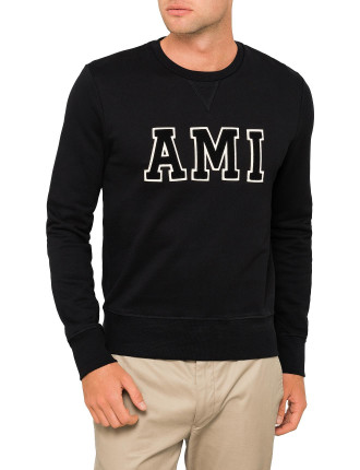 'AMI' PATCH CREW NECK SWEATSHIRT
