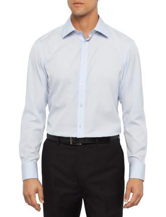Contrast Trim Solid Poplin Shirt