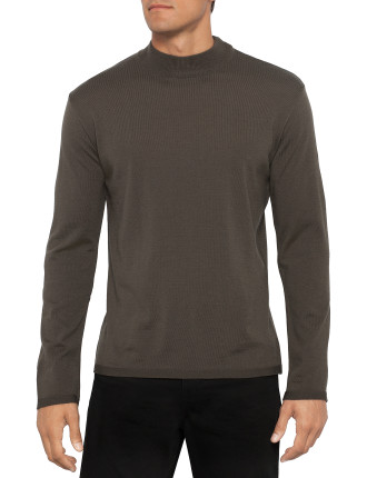 Long Sleeve Funnel Neck Knit