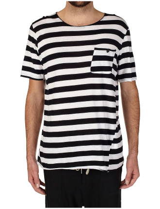 Short Sleeve Original Stripe Pocket Tee