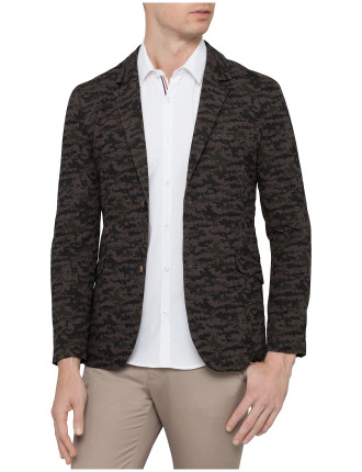 Digital Camo Print Jacket
