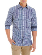Long Sleeve 2 Colour Bright Gingham Shirt $89.95