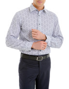 Long Sleeve Baroque Print Shirt $89.95