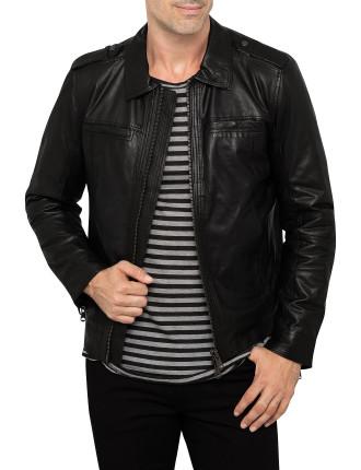 Winter Leather Biker Jacket