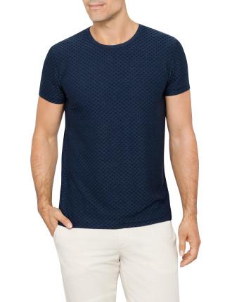 Sev C Pattern Drape Jaquard T-Shirt