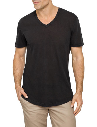 Clear Jersey V-Neck Tee