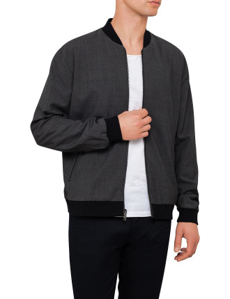 Worsted Wool Revisible Bomber